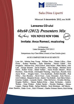 60x60 Presenters Mix Bucharest, Romania