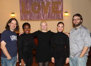 Rob Voisey, Rachel (Rae) Charles, Erin Bomboy, Samantha Parsons, and David Morneau