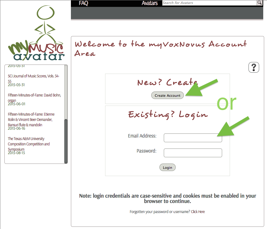2. Log in or create a new account (free of charge).